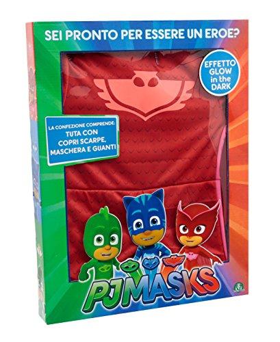 Giochi Preziosi Super Pigiamini PJ Masks Costume Carnevale Gufetta, Taglia 3/4 anni per Bambini, PJA02100