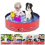 LINGSFIRE Piscina Perros y Gatos Bañera Plegable, Piscina para Niños,PVC Antideslizante y Resistente al Desgaste, Adecuado para Interior Exterior al Aire Libre (80 x 20cm)