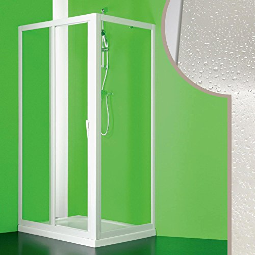 Cabine douche 90x150 CM en acrylique mod. Mercurio avec ouverture centrale