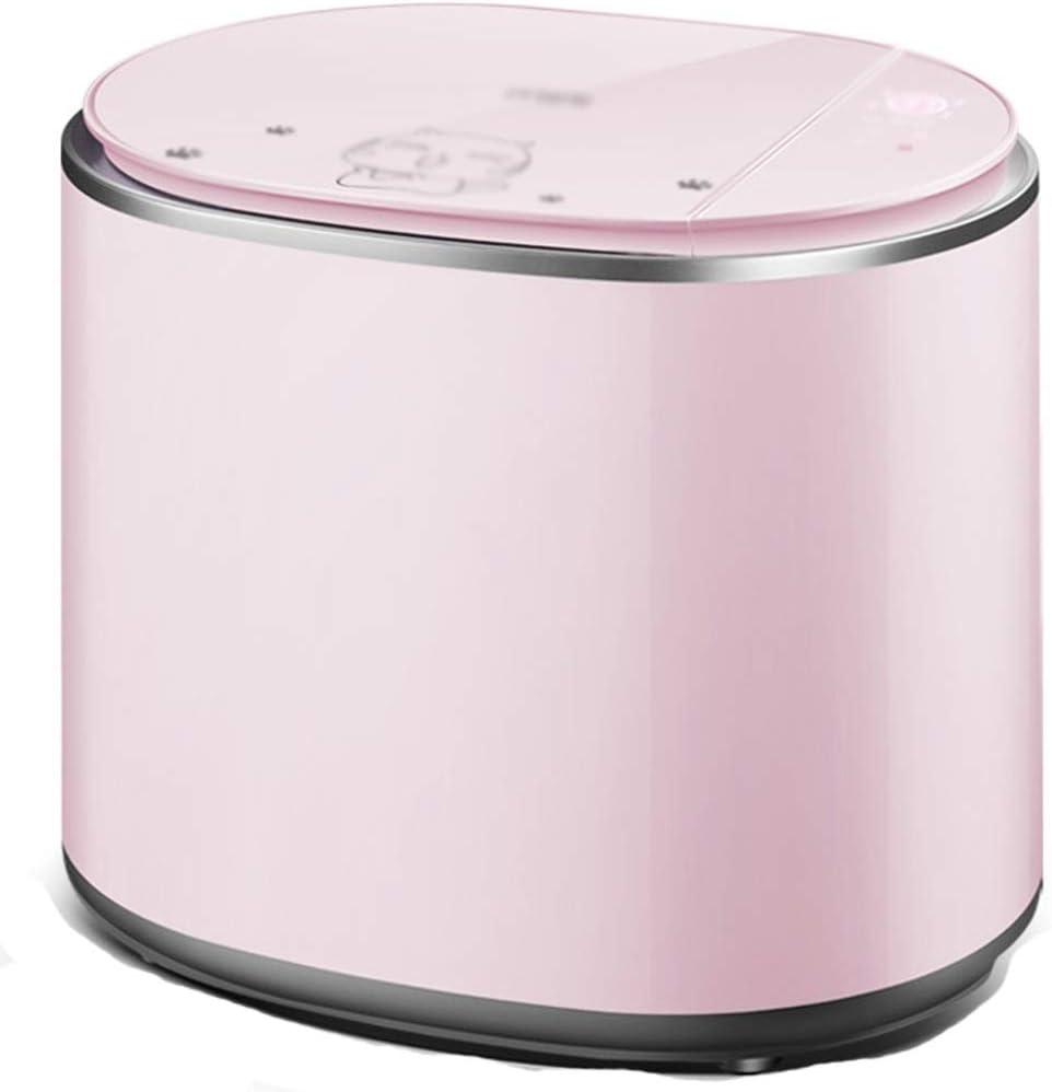 Mini Lavadora Portátil De Tina,Lavadora Secadora,Lavadora Aeg,para Camping Apartamentos Dormitorios Viaje De Negocios (Color : Pink, Size : 45.5 * 35.5 * 39.5cm)