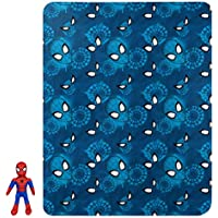 Disney Marvel Spider Man Jump Swing Spidey Character Pillow and Fleece Throw Blanket Set (40 Inch x 50 Inch)