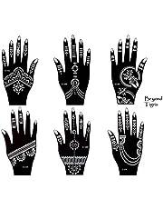 Tigris 6 tattoo-sjablonen, set van 6 henna designs voor handen, set van 6