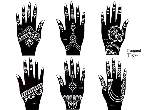 Plantillas para tatuajes de Henna –6 unidades