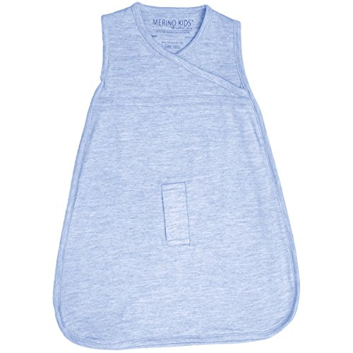 Cocooi Merino Baby Schlafsack für Neugeborene, Himmelblau