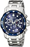 Invicta 80057 Watch Men's Pro Diver Stainless Steel with Blue Dial