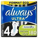 Always Serviettes hygiéniques Ultra Secure Night - Le paquet de 9