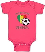 Custom Boy & Girl Baby Bodysuit Future Soccer Player Senegal Cotton Clothes