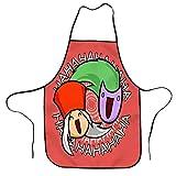 Hahaha - Delantal ajustable con babero de cocina para hombres y mujeres