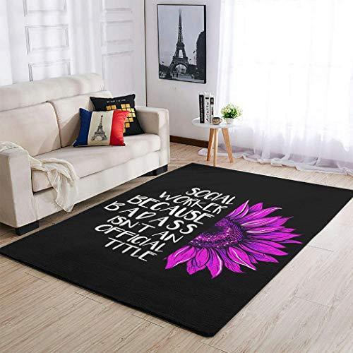 Zhouwonder Area Rugs - Alfombras de trabajo social, antideslizantes, para guardería, dormitorio, habitación blanca, 91 x 152 cm