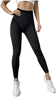 Womens Leggings Pants Fashion Womens Elastic Stripe High Waist Leggings Tight Sports Casual Yoga Pants Casual Trousers Spo...