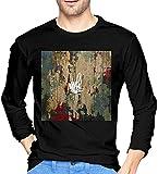 Mike Shinoda Post Traumatic Uomo Cotone Manica Lunga T-shirt Nero Regali Colore unico L