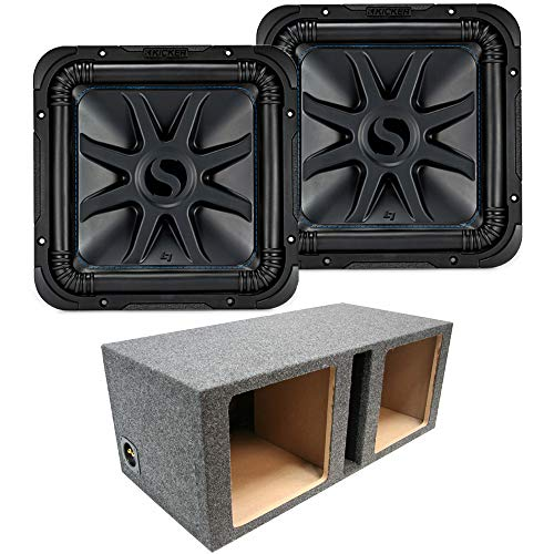 Loaded Dual Kicker 44L7S122 Car Audio Solo-Baric 12' Subwoofer Box Sub Enclosure (Renewed)