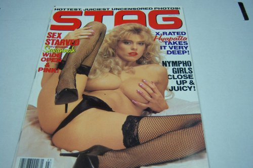 Stag Adult Busty Magazine 'Sex Starved Covergirl Savannah Wide Open' March 1992