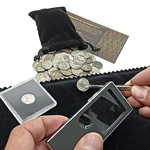 IMPACTO COLECCIONABLES Monedas Antiguas, 6 Denarios y Doble