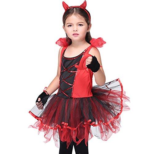 Baymate Mädchen Halloween Kleid Fairy Cosplay Partei Abendkleid Karneval Kostüm Stil3