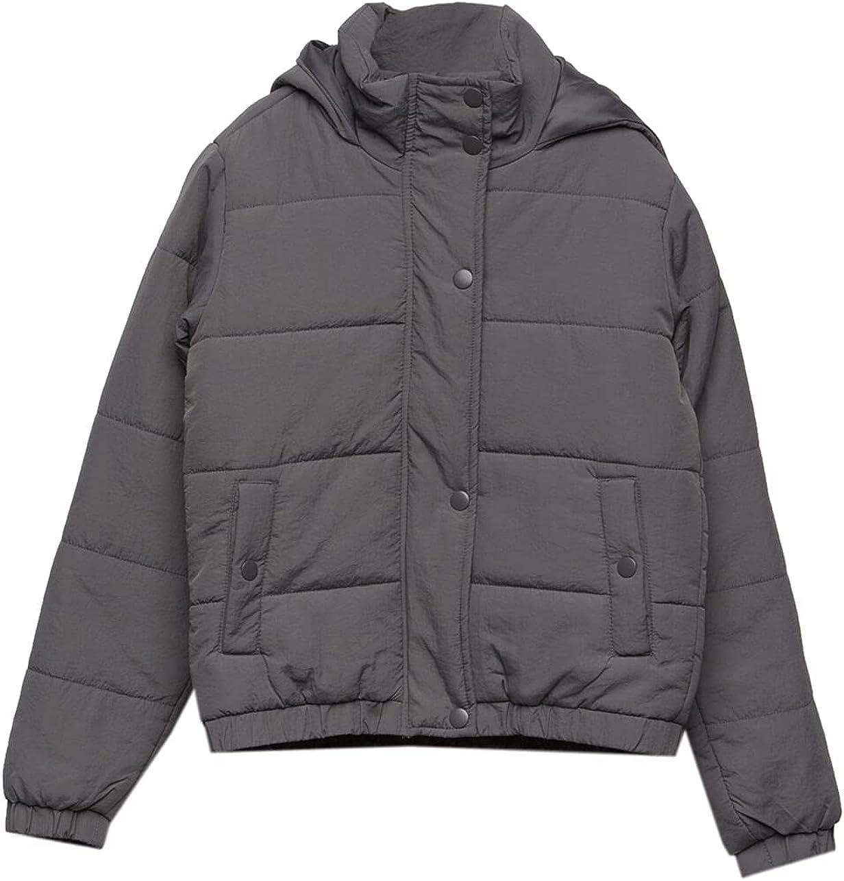 FULL TILT Nylon Hooded Girls Puffer Jacket
