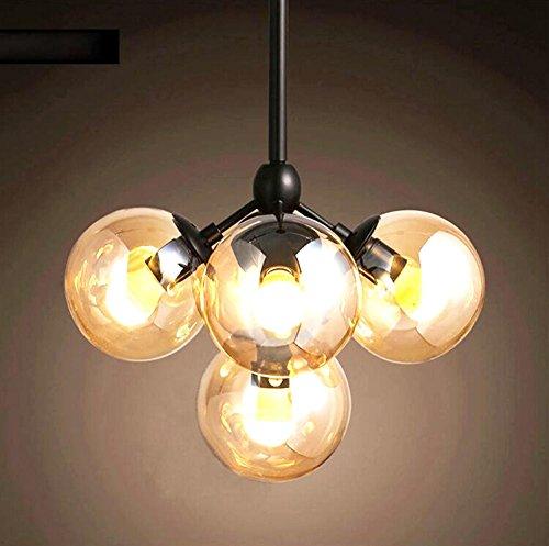 AMZH Nueva lámpara Creativa del Techo de 5 lámparas de Cristal de la lámpara de Techo de la lámpara de la Sala de Estar de la lámpara de la lámpara 40Cm Anchos * High 38Cm E27 110V 220V