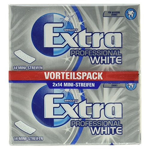 Wrigley's Extra Professional White Vorteilspack, 2 x 14 Ministreifen