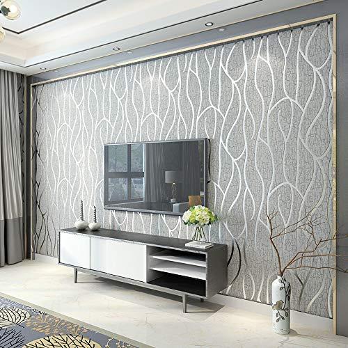 Papier peint style brique vintage - 100 x 53 cm - Blanc rustique- papier décoratif pour chambre et salon