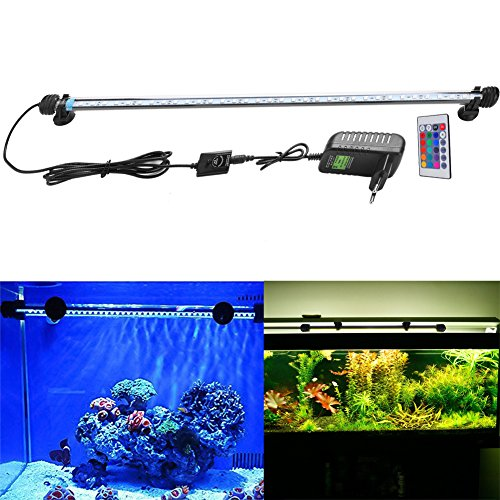 FVTLED Cambia color Lámpara de acuario 8W 62CM 33 luces SMD5050 LED L