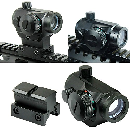 Lunettes de visée Tactical Reflex Red Green Dot Sight Portée w / Dual High / Low Profile Rail Mount Airsoft Chasse