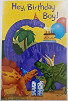 """"""" You 're Wished A super-saurus Day """"恐竜パーティーHappy誕生日to Boy Greeting Card"""