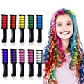 10 Colors Hair Chalk for Girls Kids Christmas Gift, Kalolary Temporary Bright Hair Color Dye for Girls Age 4 5 6 7 8 9 10+, Washable Hair Chalk Comb Gift for Christmas New Year Birthday Party Cosplay