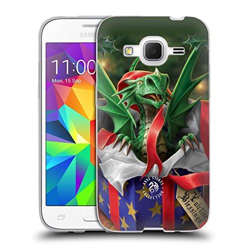 Head Case Designs Oficial Anne Stokes Regalo Sorpresa Navidad Carcasa de Gel de Silicona Compatible con Samsung Galaxy Core Prime
