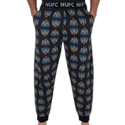 Newcastle United FC Official Football Gift Mens Lounge Pants Pyjama Bottoms LGE. Black