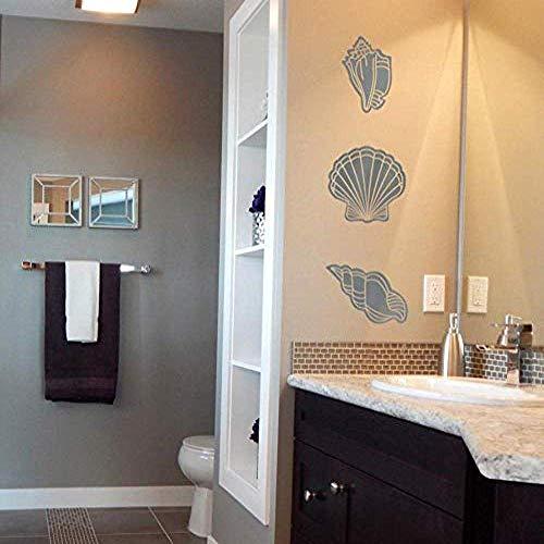 Afneembare muursticker van Conch vinyl voor de kinderkamer, doe-het-zelf thuisdecoratie voor kinderkamer, doe-het-zelf toilet, decoratief behang 28 x 78 cm
