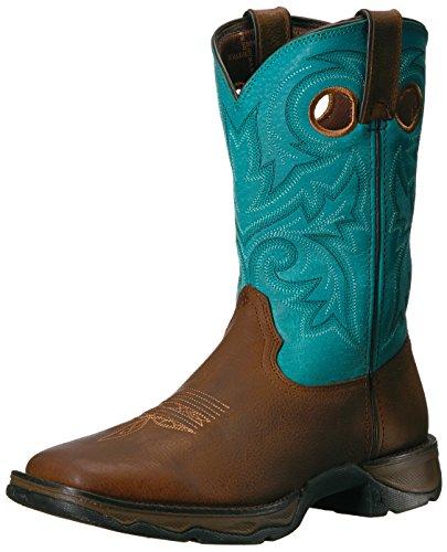 Durango Women's DWRD016 Western Boot, brown/turquoise, 10 M US