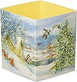 Winterzauber überall. Ein Windlicht-Adventskalender mit 24 Türchen