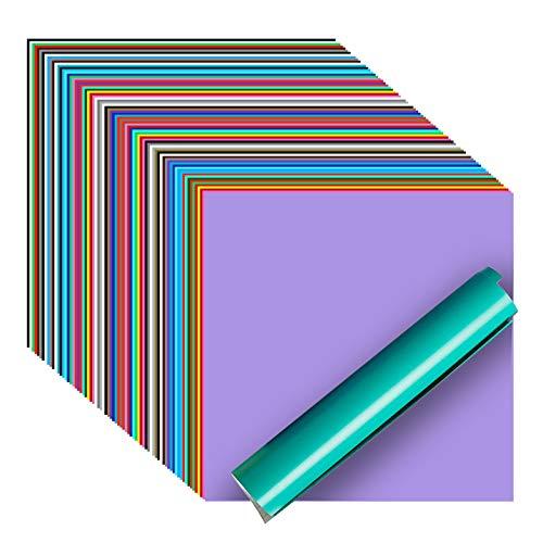 iImagine Vinyl Permanent Vinyl for Cricut, 72 Pack Permanent Adhesive Vinyl...