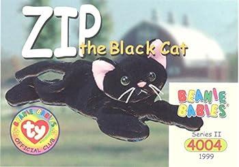 BBOC Cards TY Beanie Babies Series 2 Common - Zip The Black Cat
