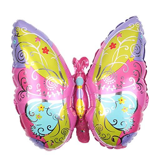 CAOLATOR Schmetterling Ballon Aluminiumfolie Aufblasbare Folienballons Luftballons für Festival Party Taufe Geburtstag Urlaub Dekoration Metallic 62cm*47cm