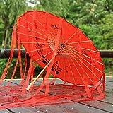 Viner Chinois Parapluie Ruban Parapluie en Soie Hanfu Parapluie Prop Tirer Ancien Costume paraguas Princesse Parasol, Ruban à Franges