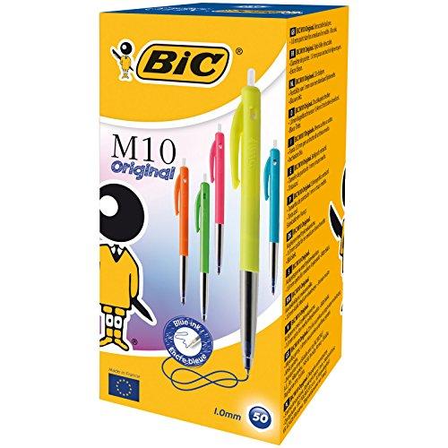 Bic M10 Original Ultracolors balpen, intrekbaar, blauw