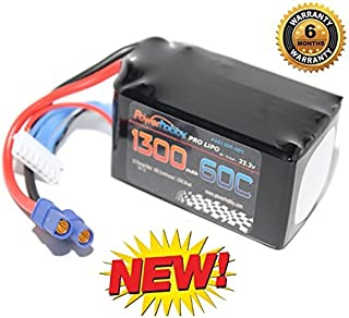 Powerhobby 6S 22.2V 1300mAh 60C Lipo Battery Soft Case 6-Cell w EC3 Connector Fits : Blade 360 CFX / Trio