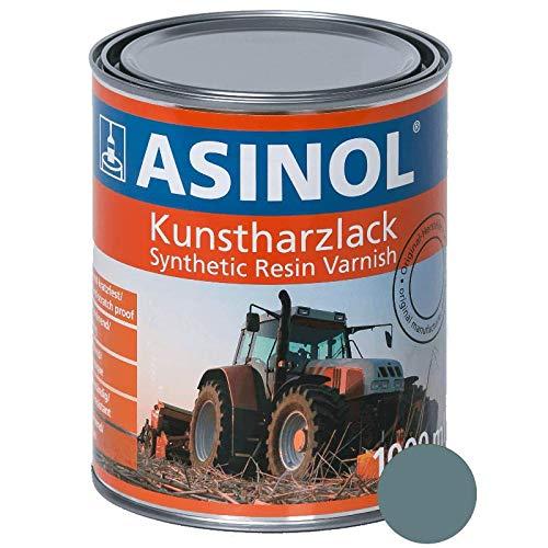 ASINOL EICHER ALPENBLAU 1.000 ml Kunstharzlack Farbe Lack 1l Liter Dose