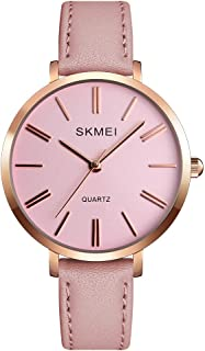 Women's Watches for Ladies Female Light Leather Band Waterproof Thin Minimalist Fashion Casual Simple Quartz Analog Young ...