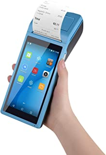 Android 6.0 pos Terminal Receipt Printer with 5.5 inch Screen All in One Handheld PDA Printer Portable Barcode Scanner Supports 3G, WiFi, BT4.0, 4GB NAND Flash