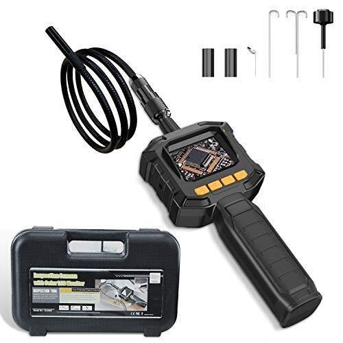 Hcxh-ABorescope Inspektionskamera mit LCD-Anzeige und Video-Ausgang, industrieller Endoskopkamera IP67 wasserdicht, Durchmesser 8 mm, 4 Helligkeit LED-Leuchten, Pipeline, Auto, Wandinspektion