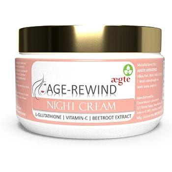 Age Rewind L-Glutathione Skin Lightening Night Cream with Vitamin-C and Beetroot 50gm/1.7 fl oz