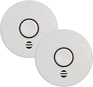 Kidde P4010DCS-W Wire-Free Interconnect Lithium Battery Powered (2-Pack) smoke alarm, white