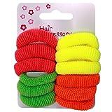 12 de chica de espaldas en luces de neón de color rosa color verde y amarillo pelo naranja Ponios IN4414