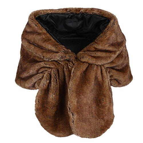 Domybest Elegante Vrouwen Winter Nep Bont Bruids Warme Sjaal Sjaal (Faux Konijnenbont)