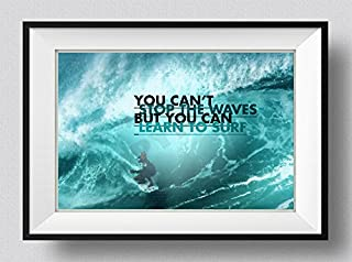 Best Quality Prints Surfing Motivational Poster 10