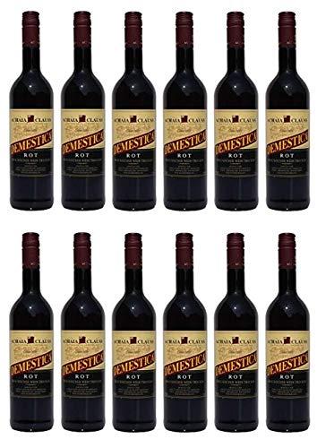 12x Demestica je 750 ml griechischer Rotwein trocken Achaia Clauss 12% + 2 Probier Sachets Olivenöl aus Kreta a 10 ml - griechischer roter Wein …