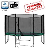 Baunsal GmbH & Co.KG Gartentrampolin Trampolin 366 bis 370 cm in grün mit Sicherheitsnetz und...