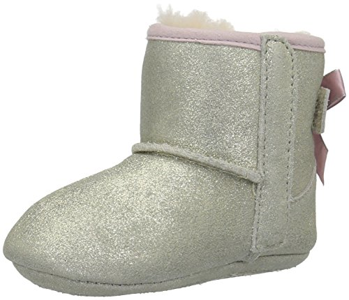UGG Baby Jesse Bow II Metallic Boot, Gold, 3 M US Infant